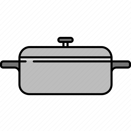 cooking, equipment, kitchen, pot, small, tool icon