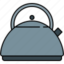 boiler, heater, kettle, kitchen, tea, water icon