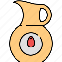 breakfast, jug, juice, kitchen icon