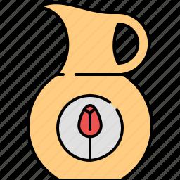 breakfast, jug, juice, kitchen icon