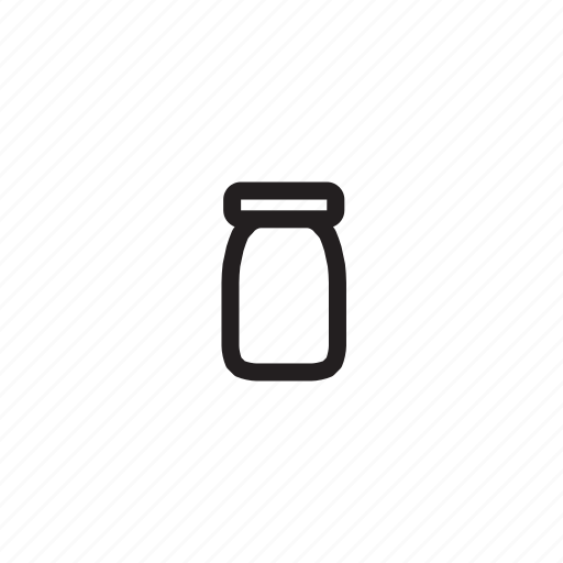 food, glass, jar, jar1, kitchen, outline icon