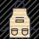 apron, chef, cooking, kitchen, uniform