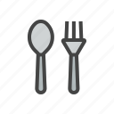 chef, cook, food, fork, kitchen, knife, spoon icon