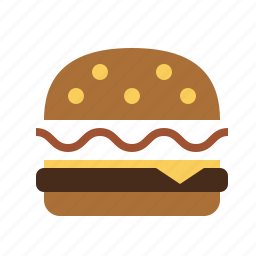 cheeseburger, food, kitchen icon