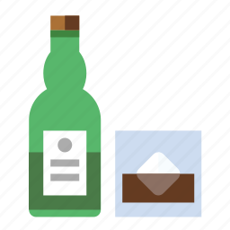 bottle, drink, food, kitchen, whiskey icon