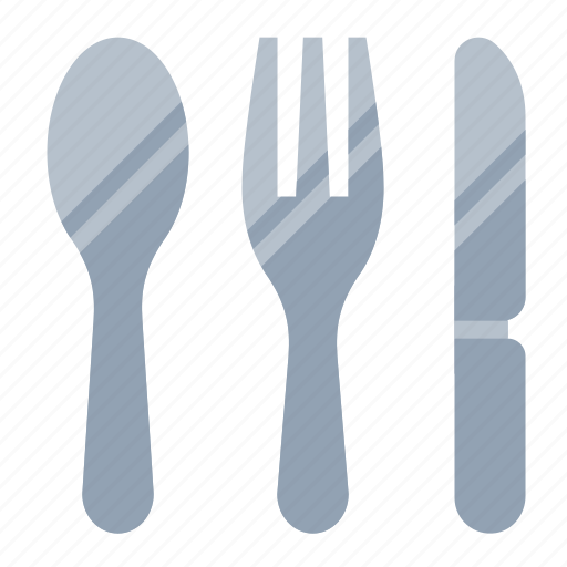 food, fork, kitchen, knife, spoon icon