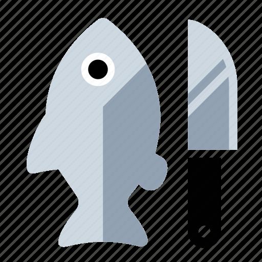 fish, food, kitchen, knife icon