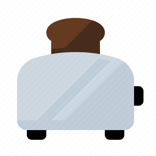 food, kitchen, toast, toaster icon