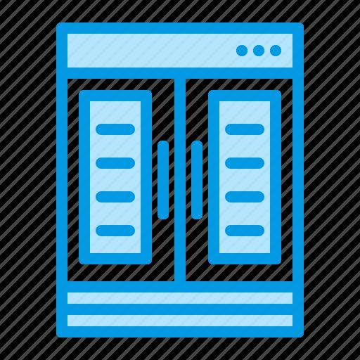 case, display, fridge, merchandising, refrigerator icon