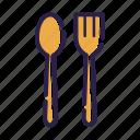 cooking, eat, fork, kitchen, menu, set, spoon icon