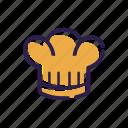 chef, cooking, hat, head, kitchen, leader, set
