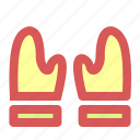 christmas, cook, gloves, mitten icon
