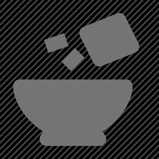 bowl, kitchen, pepper, salt, seasoning icon