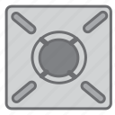 burner, cook, cooking, gas, heat, kitchen, stove icon
