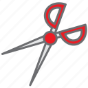 cut, haircut, paper, scissor, tailor, tool icon