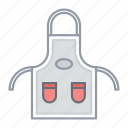 apron, bib, chef, cooking, kitchen icon