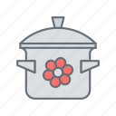 cooking, frying, kitchen, pan, pot icon