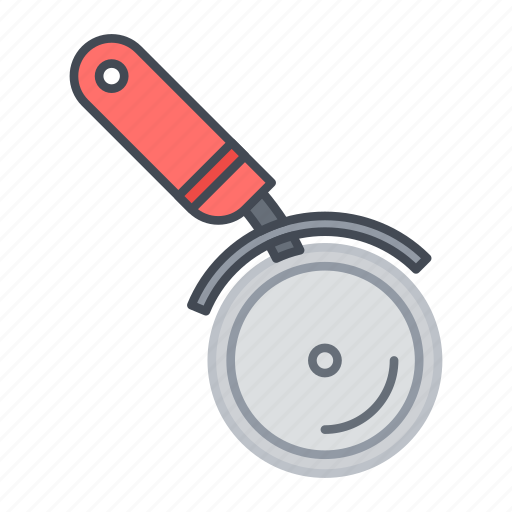 cooking, cutter, kitchen, pizza, slice, tool, wheel icon