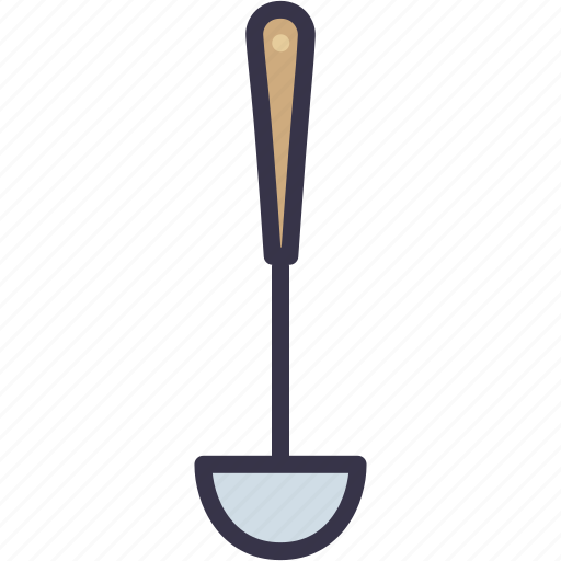 cook, cooking, kitchen, ladle, soup, spoon, utensil icon