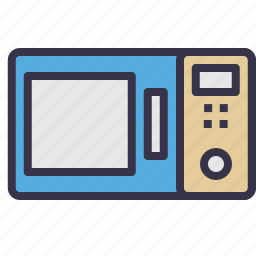 cooking, electronic, equipment, kitchen, microwave, oven, range icon