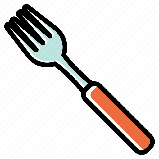 cutlery, dining, fork, pronged tool, utensils icon