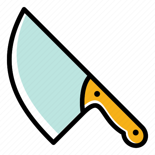 Big knife, hatchet, kitchen axe, meat cutter, tools and utensils icon - Download on Iconfinder