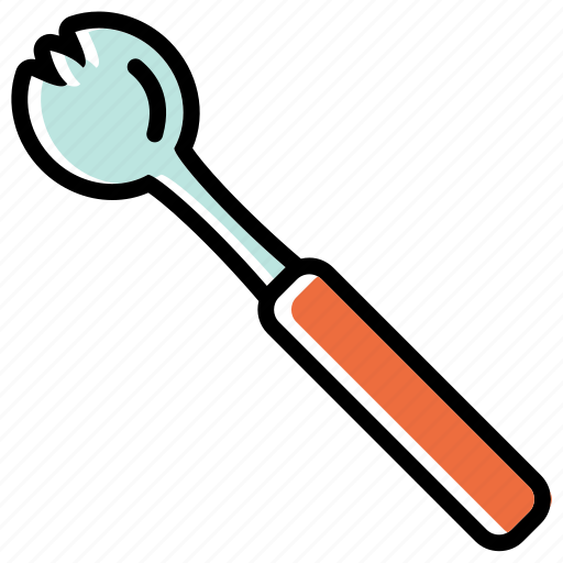 cutlery, dining, prongs, salad fork, utensils icon