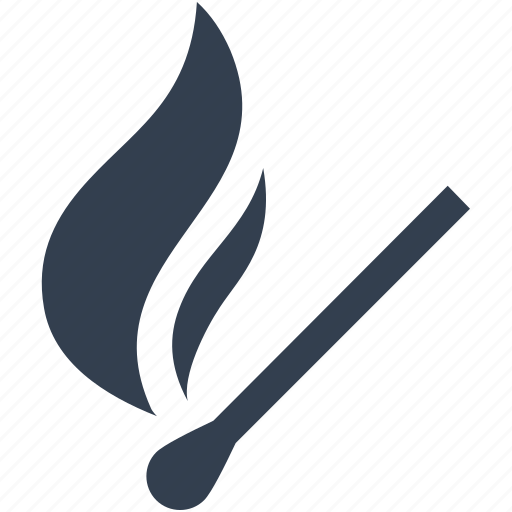 burning, danger, fire, kitchen, matchstick, tools, utencils icon