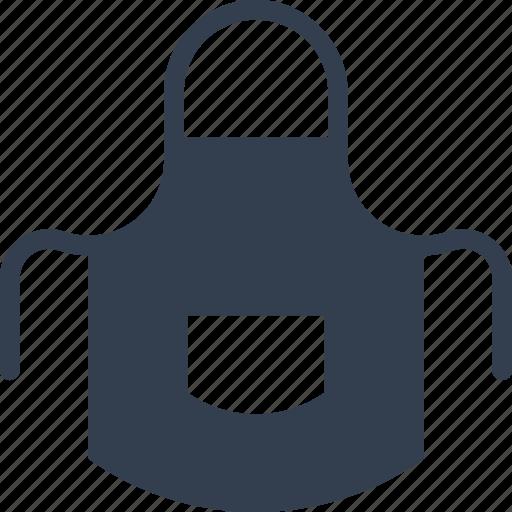 apron, kitchen, protection, tools, utencils icon