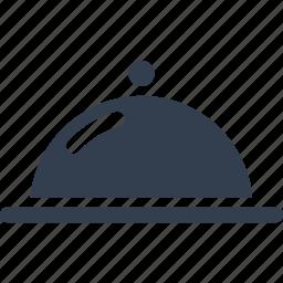 cloche, hotel, kitchen, plate, restaurant, tools, utencils icon