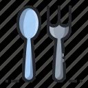eat, fork, kitchen, spoon, utensil