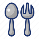 cooking, food, fork, kitchen, spoon icon