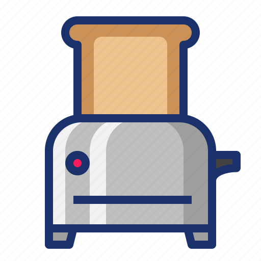 bread, cooking, food, kitchen, toast, toaster icon