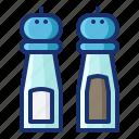 bottle, cooking, food, kitchen, pepper, restaurant, salt icon