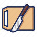board, cooking, cutting, kitchen, knife, slice icon