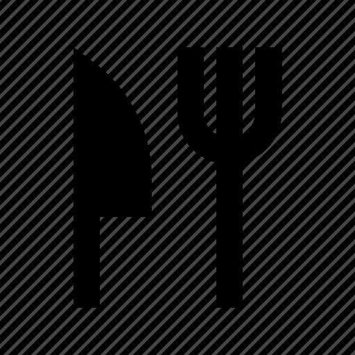 cutlery, eating utensil, fork, knife, utensils icon