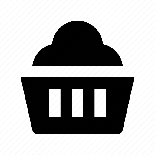 bakery food, cupcake, dessert, fairy cake, muffin icon