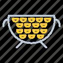 colander, cooking, kitchen, kitchen utensils, pasta icon