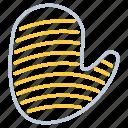 golve, hand, kitchen utensils, oven icon
