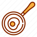 egg, fried, frying pan, kitchen, pan, saucepan, tools icon