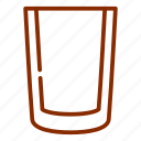 drink, glass, glassware, kitchen, tools, water icon