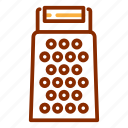cheese, cooking gadget, grater, kitchen, kitchen utensil icon
