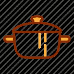 cooking utensil, kitchen, kitchenware, pot, saucepan, soup, tools icon