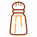 kitchen, salt, shaker, spice, tools, utensil icon