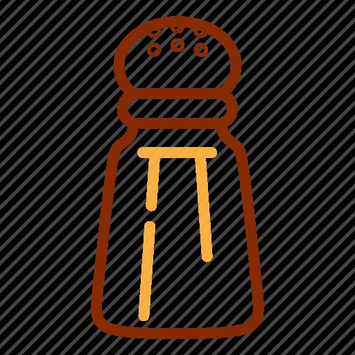 kitchen, salt, shaker, spice, tools, utensil icon