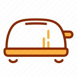bread, breakfast, kitchen, loaf, toaster, tools icon