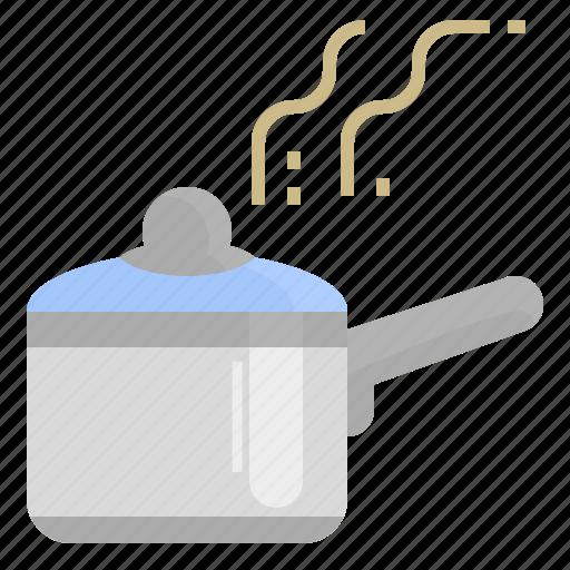 boil, cook, hot, kitchen, kitchenware, pot icon