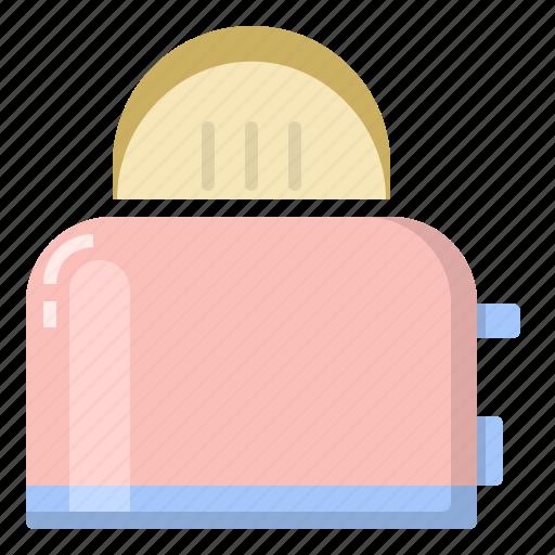 bread, cook, kitchen, toaster icon