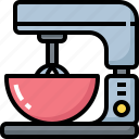 appliances, cooking, flour, food, kitchen, kitchenware, mixer icon