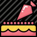 appliances, cake, dessert, kitchen, kitchenware, squeeze, syringe